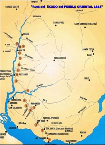 Éxodo del pueblo oriental