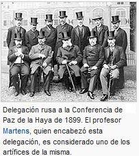 PRIMER CONFERENCIA DE LA PAZ EN LA HAYA