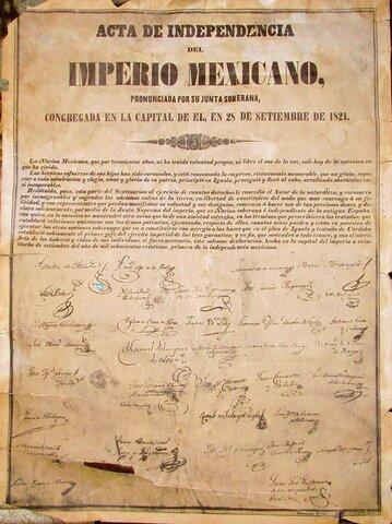 Acta de independencia del imperio mexicano