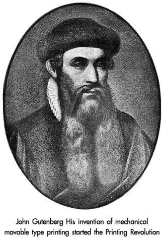 The father of modern-day literature (the printing press) Part1/4