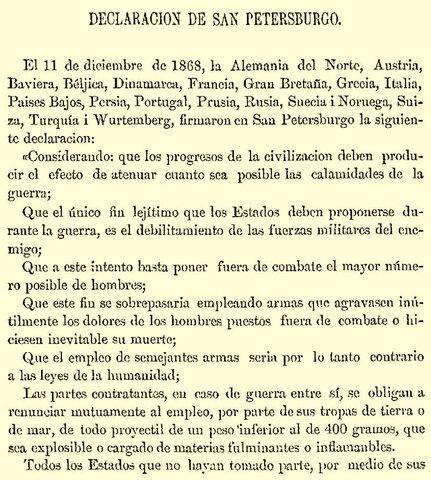 DECLARACION DE SAN PETERSBURGO
