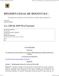 Ley 1285 de 2009