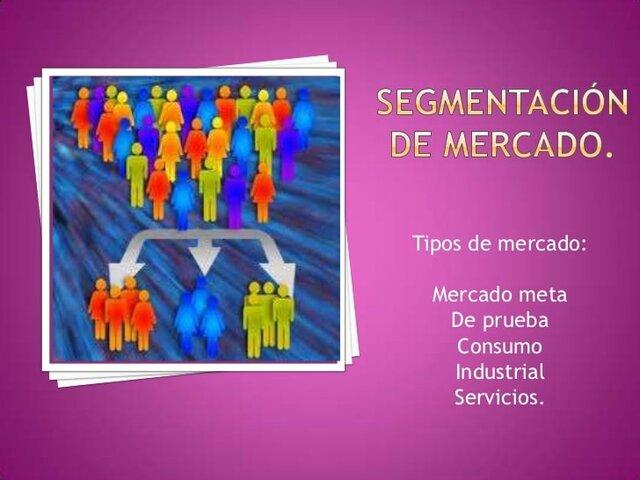 Segmentos de Mercado- 1960 (La mercadotecnia se empieza a aplicar en forma específica a segmentos de mercado.)