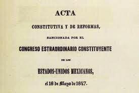 Acta Constitutiva y de Refoma.