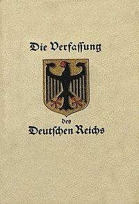 La Constitución Alemana de Weimar