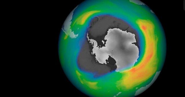 Existencia de un agujero ubicado en la zona atmosférica