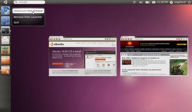 Ubuntu saca su versión 11.04, cambiando de interfáz Gnome a Unity.