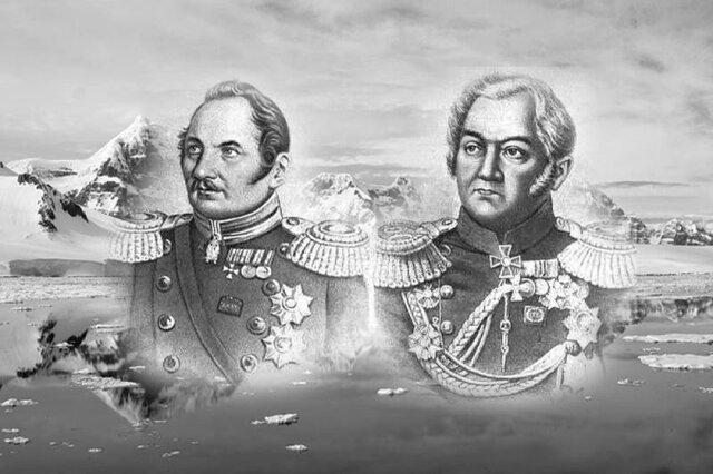 """Una expedición de dos barcos de la flota imperial rusa, el buque insignia """"Vostok"""" al cual acompaña la corbeta """"Mirni"""", al mando de Fabian von Bellingshausen y Mikhail Petrovich Lazarev, alcanzan el continente antártico y son los primeros allí."""