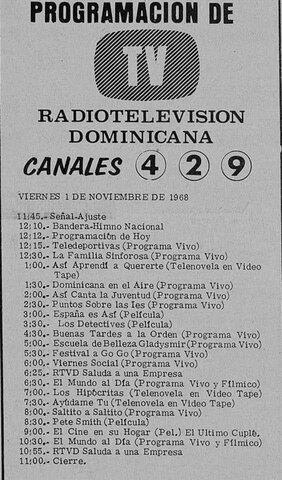 Programación del Canal 4 de RTVD
