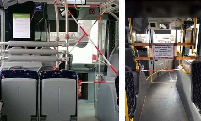 suspencion laboral y de transporte publico.