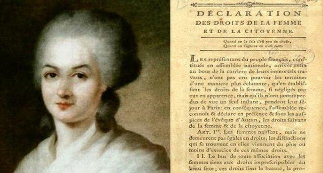 DECLARACIÓN DE LOS DERECHOS DE LA MUJER Y LA CIUDADANA