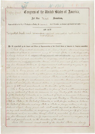Sherman Antitrust Act of 1890