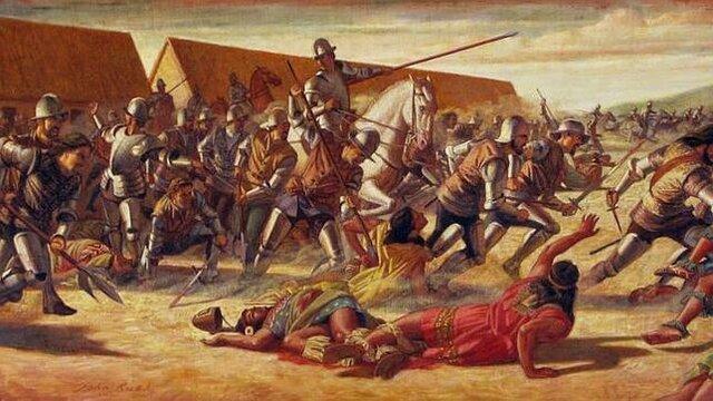 Pizarro llega a las tierras controladas