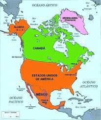 Actual mapa de América del Norte