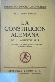 Constitución Alemana de Weimar.