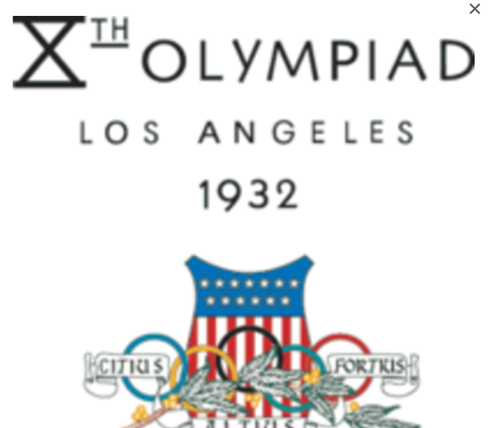 Start of the 1932 olympics.
