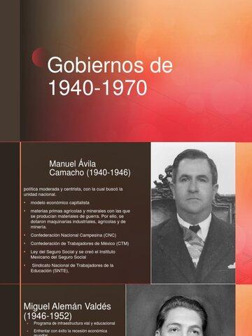 Periodo de 1940 a 1970