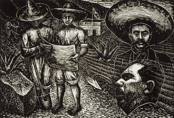 La  Reforma Agraria basada en la expropiación de latifundios y el reparto de las tierras,