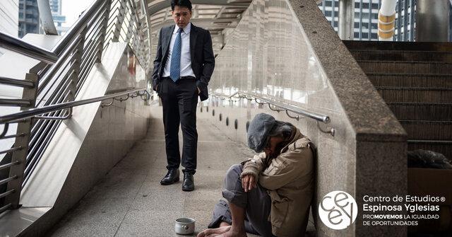 Estado benefactor agotado: pobreza y desigualdad.