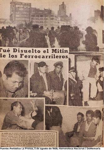 El movimiento ferrocarrilero de Demetrio Vallejo