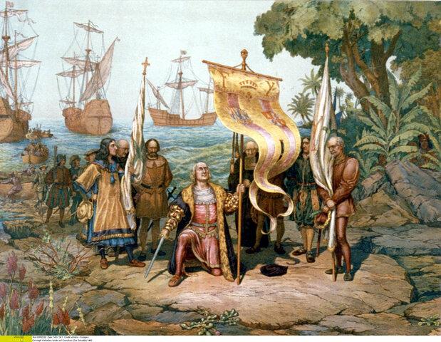 Llegada a las Américas de Cristóbal Colón