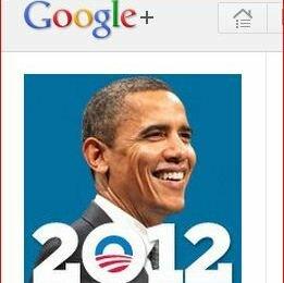 Barack Obama en Google+