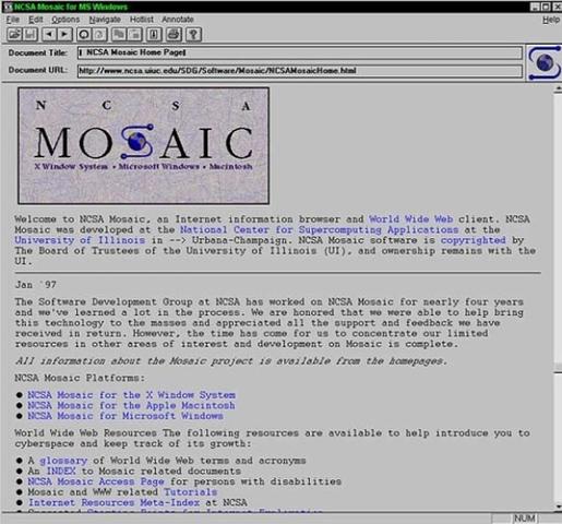 Mosaic primer navegador