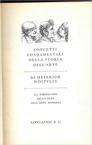 Concetti Fondamentali della storia dell'arte 1915 Wofflin