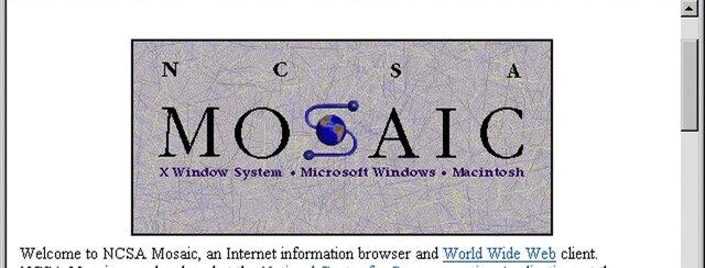 El NCSA el navegador web gráfico Mosaic para Unix