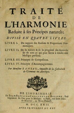 Rameau's Traité de l'harmonie