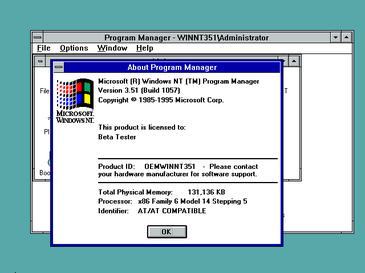 Windows NT 3.5.1