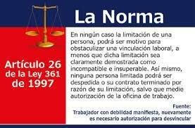 LEY 361 DE 1997