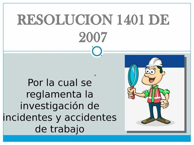 Resolución 1401 de 2007