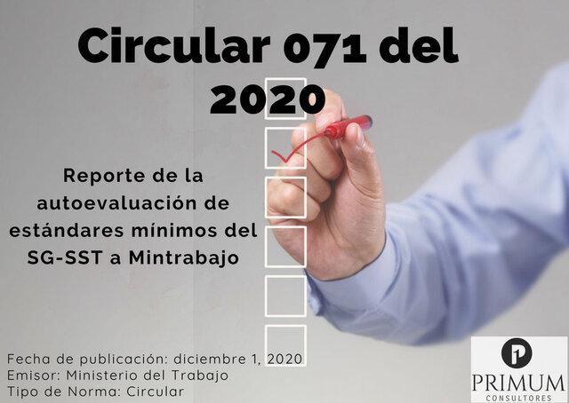 CIRCULAR 071 2020
