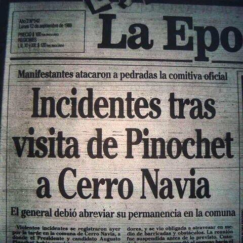 Visita de Pinochet a Cerro Navia