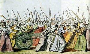 Asalto del Palacio Real en Versalles, los reyes huyen escoltados