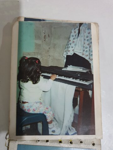 First time I played the piano (even if I stopped playing it for several years)