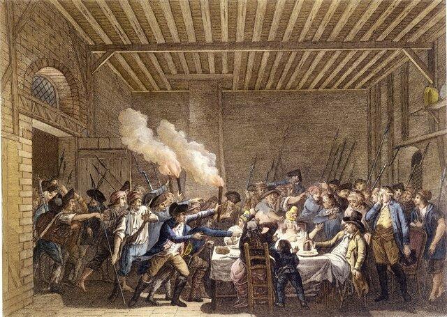los reyes son capturados y devueltos a París cuando intentaban huir de Francia