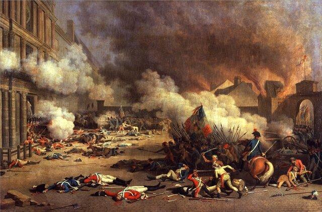 Se toma el Palacio de las Tullerías y cae la monarquía constitucional