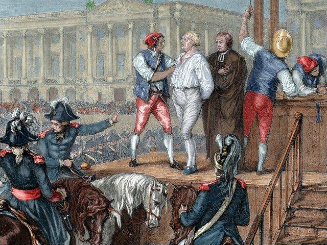 Luis XVI es guillotinado