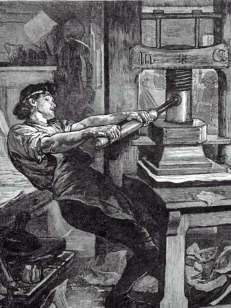 Artes graficas. La invención de la imprenta