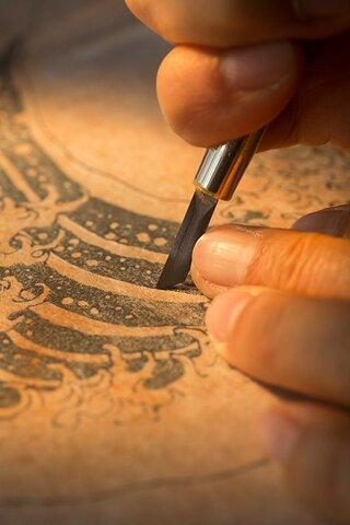 Artes graficas. Grabado en planchas de madera