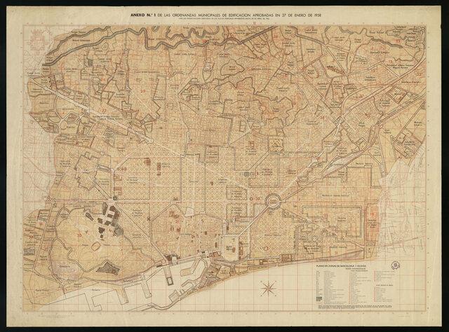 Plànol de la ciutat de Barcelona 1962