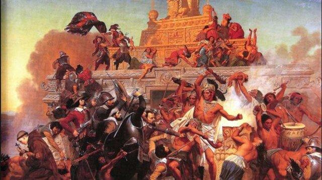 Cortés invadió el Imperio Azteca.