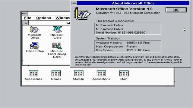 MS Office 4.0