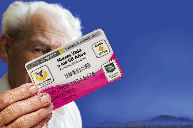 Pensión alimentaria para los adultos mayores de 70 años y más ( 68 y más) residentes en el Distrito Federal.