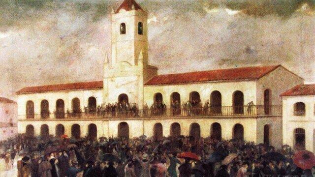 Revolución de Mayo-1° Junta de gobierno.