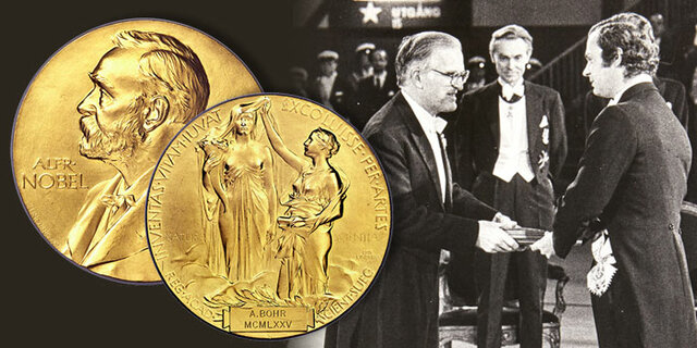 Bohr receives a Nobel Prize in Physics