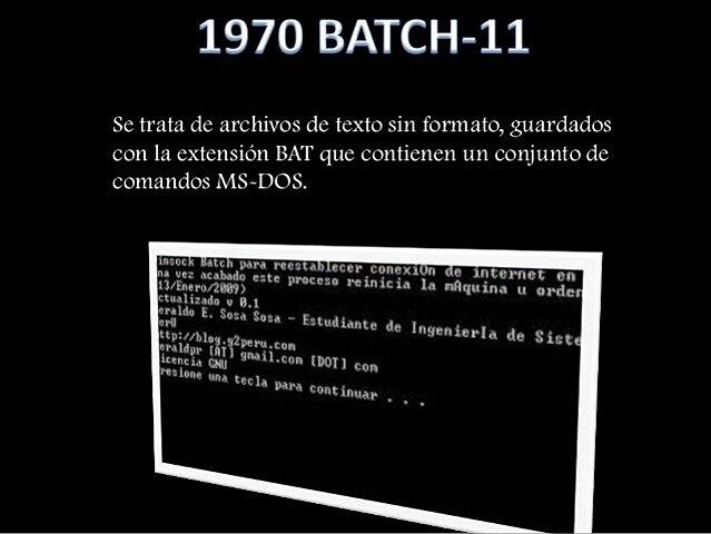 BATCH-11 / DOS-11
