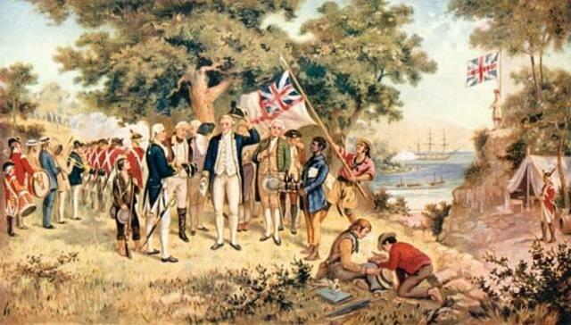"Captain James Cook ""discovers"" the east coast of Australia"